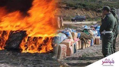 جمارك طنجة تحرق أطنان من الحشيش والكوكايين والأقراص المهلوسة (فيديو) 5