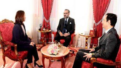الملك محمد السادس يستقبل دنيا الطعارجي وعبيد عمران بحضور بنشعبون 6