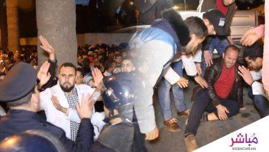 طنجة..الأمن يتدخل لثني الأساتذة المتعاقدين عن تنظيم مسيرة (فيديو) 6