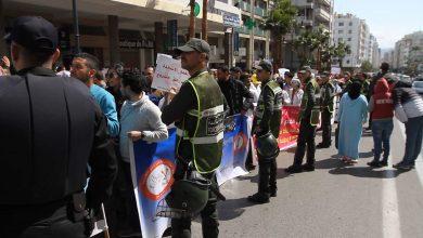 طنجة..السلطات تتعامل بحكمة مع مسيرة الأساتذة المتعاقدين 4