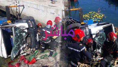 عاجل.. مصرع شخص إثر انقلاب رافعة بميناء الصيد بطنجة (صور) 9