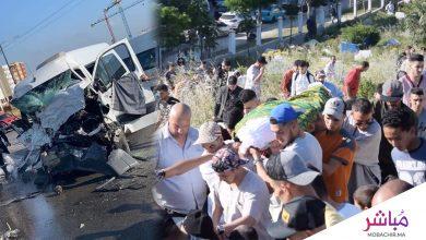 جنازة سائق حافلة نقل العمال احد ضحايا حادثة سير بطنجة 5