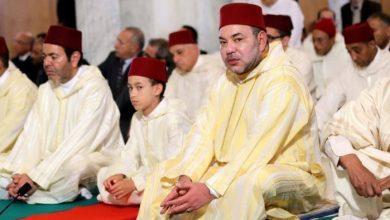 الملك يؤدي صلاة العيد بمسجد أهل فاس بالمشور السعيد بالرباط 5