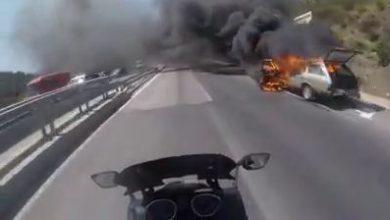 فيديو.. حريق يلتهم سيارة بمنطقة عين الحصن ضواحي تطوان 3