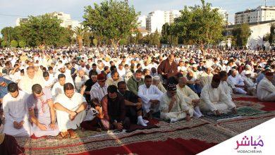 ساكنة طنجة تؤدي صلاة العيد بمصلّى السوريين 6