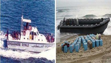 زوارق سريعة ترمي أطنان من الحشيش في عرض البحر بعد مطاردة البحرية والدرك 3