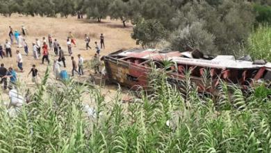 مصرع 4 أشخاص وإصابة 23 آخرين إثر انقلاب حافلة بتاونات 5