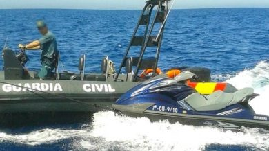 """البحرية الإسبانية تعترض مغربيين على متن """"جيتسكي"""" انطلق من طنجة 4"""