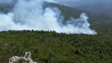 """اندلاع حريق في غابة """"جبل موسى"""" بإقليم تطوان 3"""