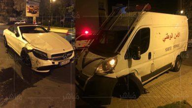 طنجة..سائق متهور يتسبب في حادثة سير خطيرة مع سيارة للشرطة 3