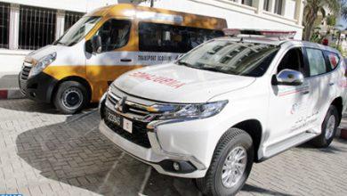 توزيع حافلات وسيارة إسعاف على عدد من الجماعات القروية بعمالة طنجة أصيلة 6