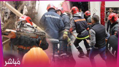 الوقاية المدنية تنتشل جثة الشخص الذي توفي في فاجعة إنهيار منزل بطنجة 2