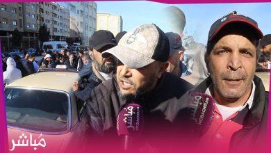 النقل القروي بمنطقة العوامة يدفع سائقي الطاكسيات إلى الإحتجاج أمام مقر الأمن 6