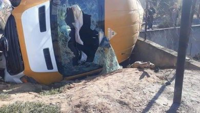 إصابة أزيد من 15 تلميذا في انقلاب حافلة للنقل المدرسي بالدريوش 3