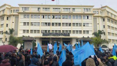عمال أمانور والمكتب النقابي يحتجون أمام مقر ولاية جهة طنجة 3