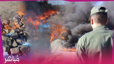 تحت إشراف النيابة العامة سلطات طنجة تحرق أطنان من الحشيش والإكستازي 2