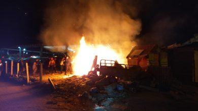 الوقاية المدنية تسيطر على حريق بسوق حي بنكيران 6