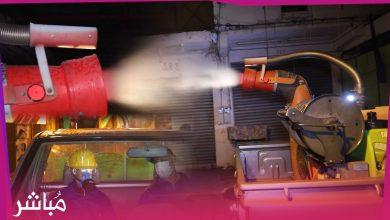 جماعة طنجة تطهر المحلات التجارية بسوق كاسباراطا 4
