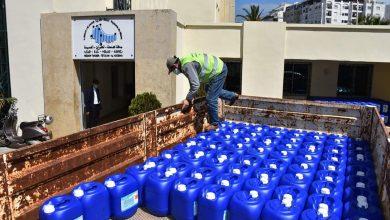 مجلس جهة طنجة يوزع 16 طن من المواد المعقمة على الجماعات 5