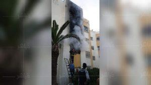 حريق مهول يأتي على شقة سكنية بطنجة 3