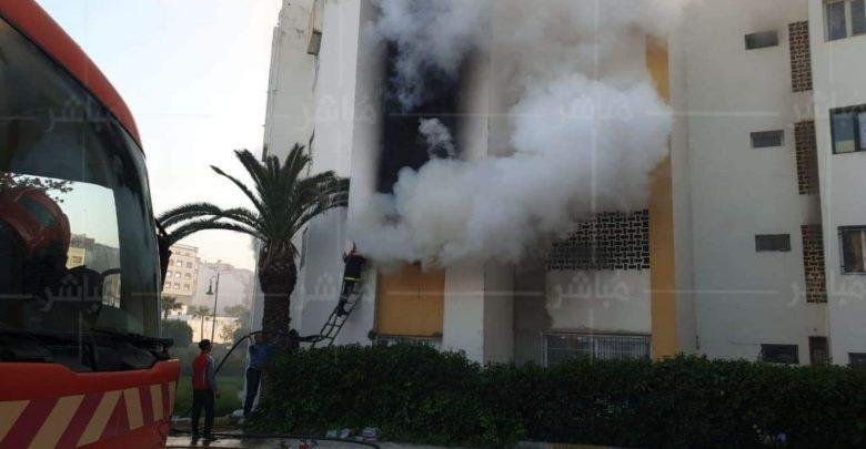 حريق مهول يأتي على شقة سكنية بطنجة 1