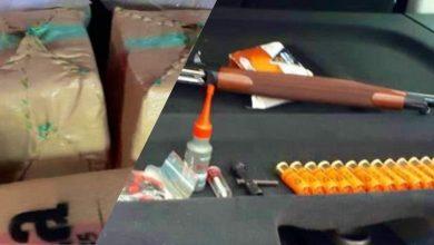 """توقيف 5 أشخاص متورطين في سرقة بندقية وحيازة أزيد من طنين من """"الحشيش"""" بطنجة وشفشاون 5"""