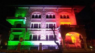 في خطوة تضامنية..سفارة المغرب بروما تضيئ بألوان العلم الإيطالي 2