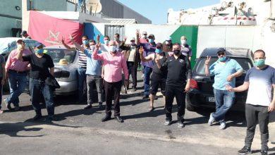"""الكاتب الجهوي لنقابات طنجة يقف على أوضاع عمال شركة """"أمانور"""" المضربين 3"""