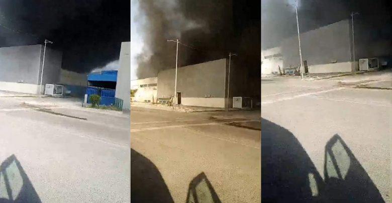 حريق مهول يلتهم مصنع للكابلاج بطنجة 1
