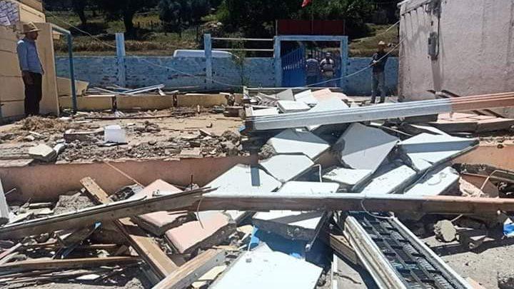 انهيار سور مدرسة يودي بحياة عامل بناء بشفشاون 1