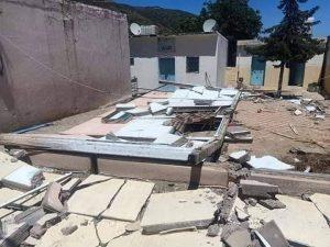 انهيار سور مدرسة يودي بحياة عامل بناء بشفشاون 4