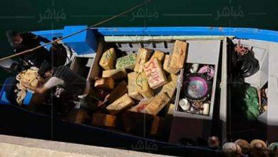 """الدرك يطارد قارب للصيد ويحجز طن من """"الحشيش"""" بمنطقة الرميلات 6"""