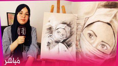 زينب فنانة تشكيلية حازت على جائزة الإبداع في زمن كورونا 1