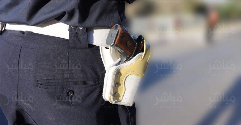 طنجة..شرطي يشهر سلاحه لتوقيف حارس ليلي في حالة هيجان 1