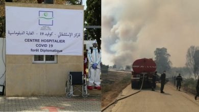 """حريق مهول بغابة """"ميريكان"""" وتخوف من انتقال النيران للمستشفى الميداني 4"""