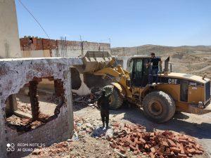 جرافات السلطة تهدم البناء العشوائي في الهرارش بطنجة 2