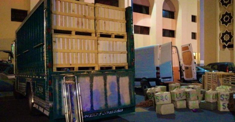 المصالح الأمنية تحجز 13 طن على متن شاحنة للنقل بالدار البيضاء 1