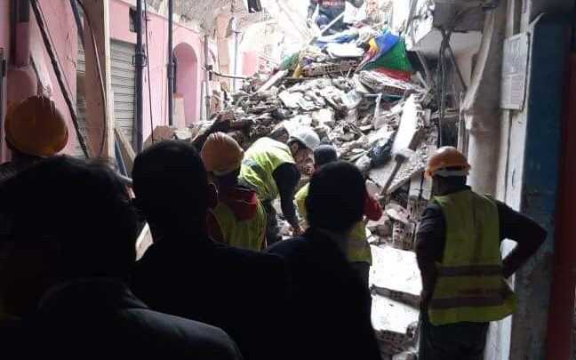 انهيار بناية آيلة للسقوط بالدار البيضاء 1