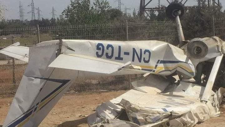مصرع شخصين في حادث تحطم طائرة بالقنيطرة 1