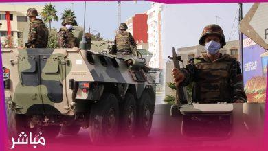 مدرعات عسكرية تجوب شوارع طنجة لضمان تطبيق إجراءات الطوارئ الصحية 3