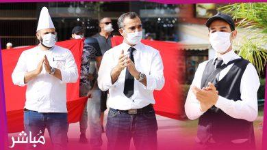 مموني الحفلات بطنجة يحتجون أمام مقر الولاية ويطالبون بالترخيص لهم لإستئناف الأعراس والمناسبات 3