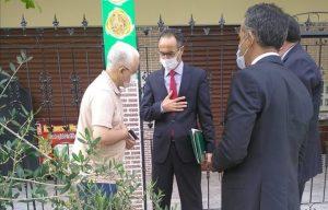 """وفد رفيع عن وزارة العدل يحل بمنزل أسرة الطفل """"عدنان"""" 2"""