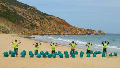 أزيد من طنين من النفايات مخلفات الموسم الصيفي بشواطئ القصر الصغير 3