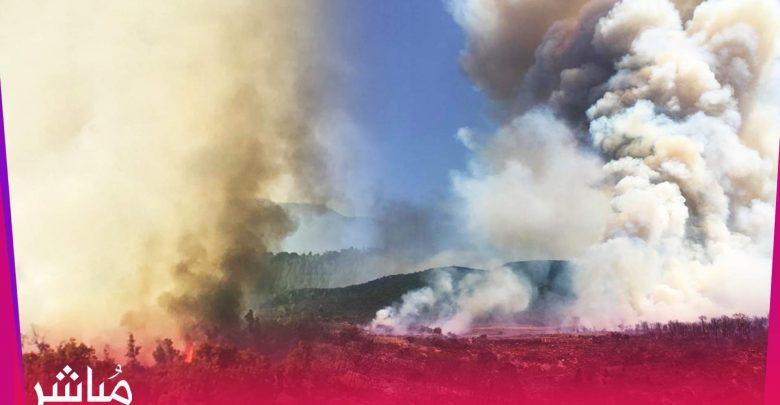 الحرائق تندلع من جديد بغابات بني عروس وتقترب من الساكنة 1