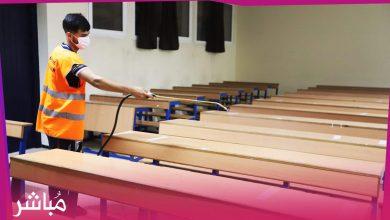 جامعة عبد المالك السعدي بطنجة تقوم بعملية تعقيم كل المرافق ليلا خلال فترة الامتحانات 1
