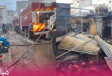 اندلاع حريق مهول بأشهر سوق بمدينة الحسيمة 5