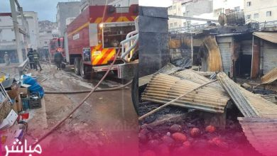 اندلاع حريق مهول بأشهر سوق بمدينة الحسيمة 4
