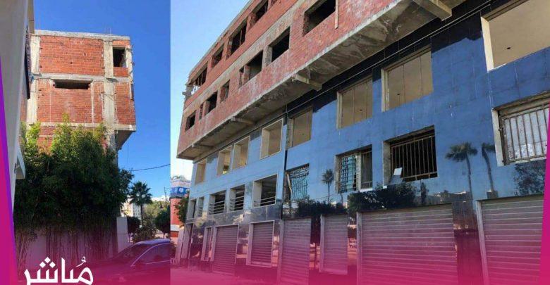 لجنة ولائية بطنجة توقف بناية غريبة خالفت تصميم التهيئة 1