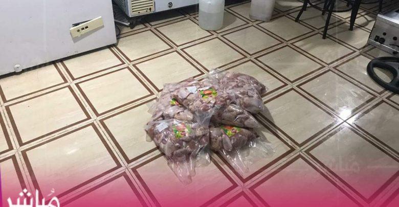 """كانت معدة للترويج..ضبط حوالي طن من اللحوم الفاسدة بحي """"بئر الشفاء"""" 1"""
