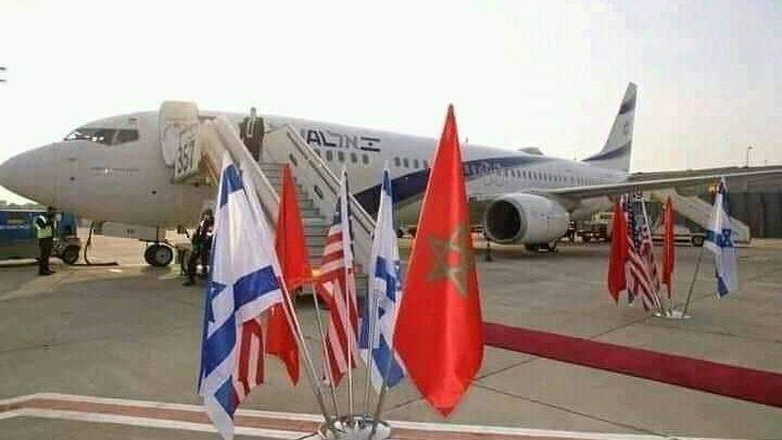 طائرة الوفد الإسرائيلي الأمريكي تحط بالرباط 1